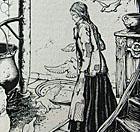 Illustratie uit De Sprookjes van Grimm (1940)