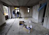 Bouwplaats Bosrijk op 10 februari 2009 (Foto: John Schouten, Brabants Dagblad)