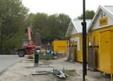 Bouwplaats Bosrijk op 25 april 2009