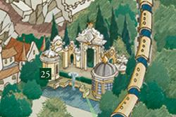 De Nieuwe Kleren van de Keizer op de plattegrond van de Efteling