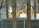 Bouwplaats op zaterdag 7 maart 2009