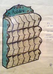 Folderrek voor de Efteling
