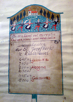 Ontwerpschets voor bord Jozefkerk
